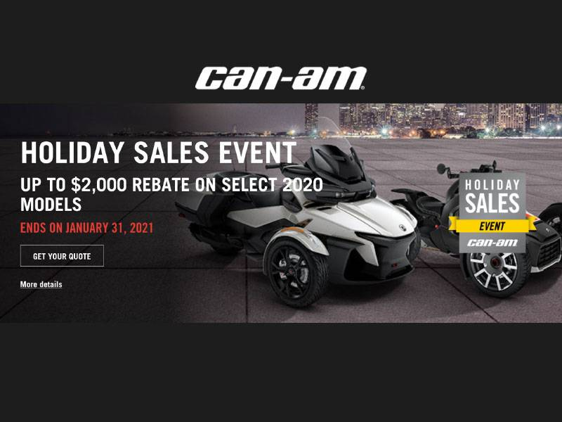 Can-Am On-Road - Holiday Sales Event