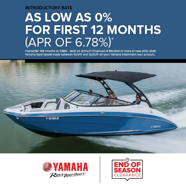 Yamaha Boats - Introductory Rate As Low As 0%