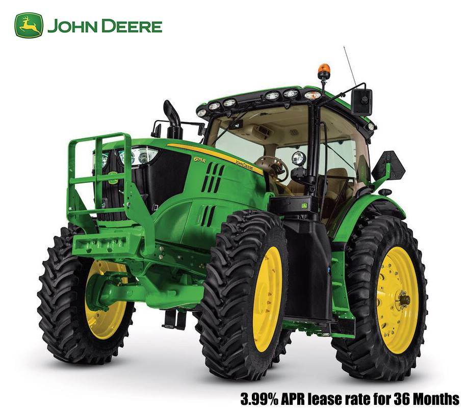 John Deere - 3.99% APR lease rate for 36 Months