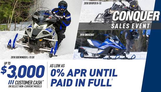 Yamaha Motor Corp., USA Yamaha - Current Offers - 2015-2018 Snowmobiles