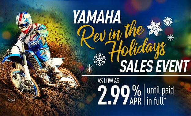 Yamaha - Rev in the Holidays Sales Event - Dirt Motorcycles