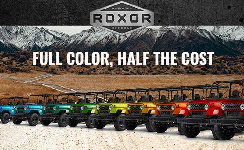 Mahindra Roxor - Full Color, Half the Cost