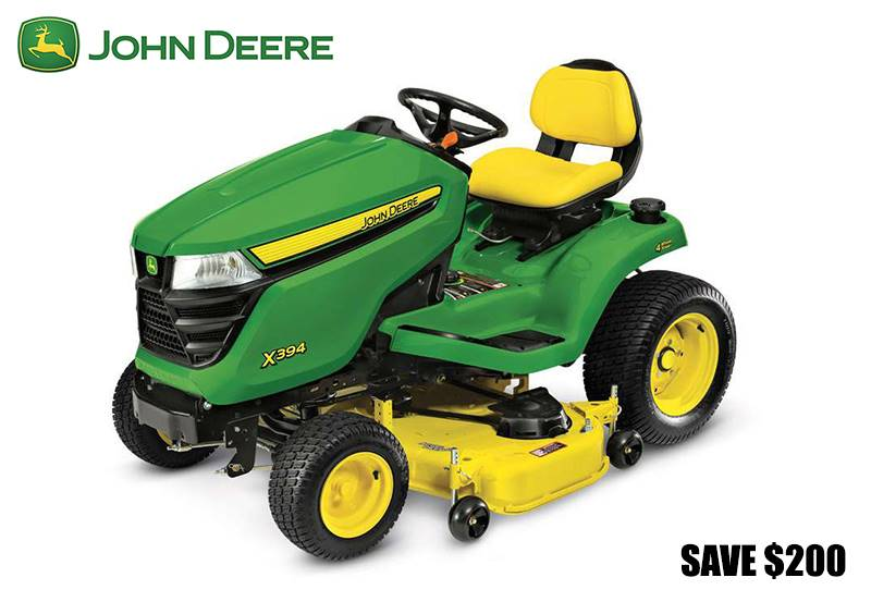 John Deere - Save $200 on X330/X350/X350R Tractors