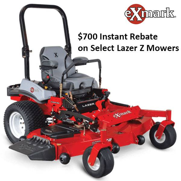 Exmark - $700 Instant Rebate on Select Lazer Z Mowers
