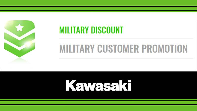 Kawasaki - Military Discount