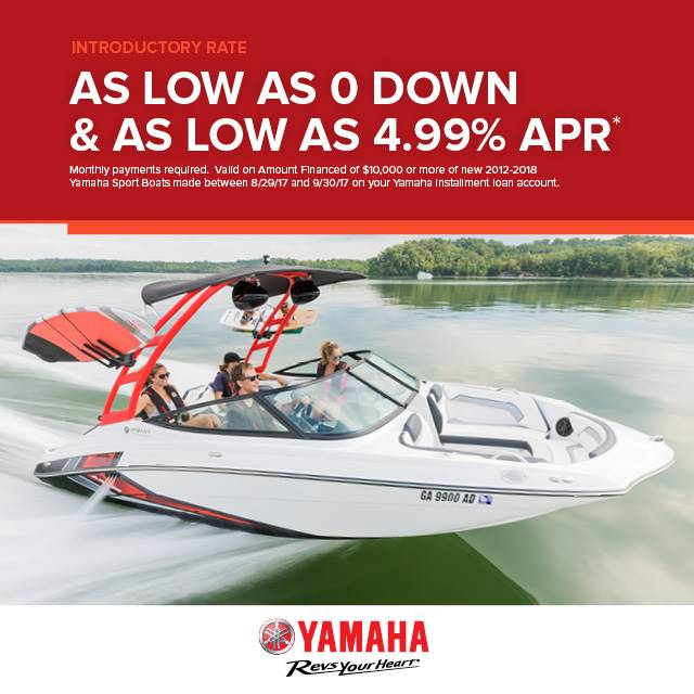 Yamaha Boats - Introductory Rate As Low As 4.99%