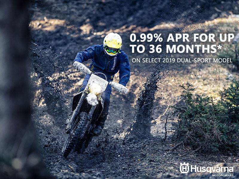 Husqvarna - 0.99% APR for up to 36 months on Select 2019 Dual-Sport Models