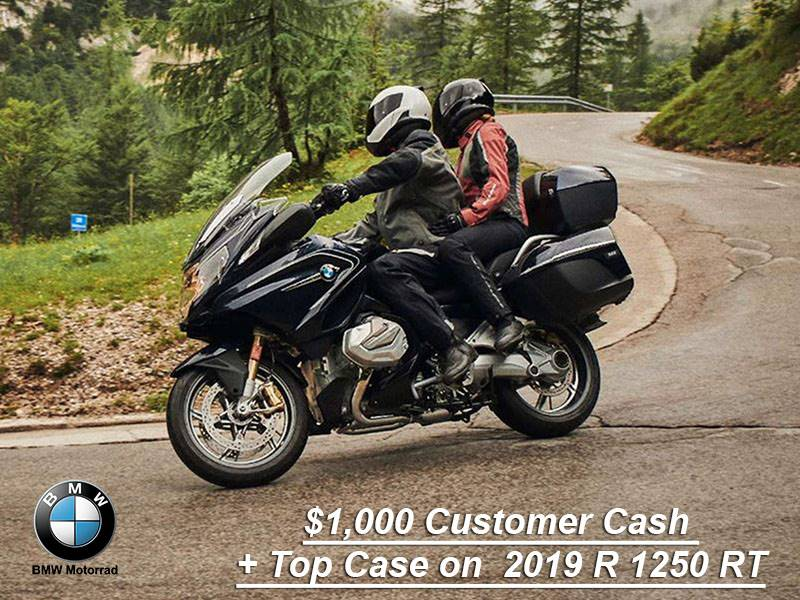 BMW - $1,000 Customer Cash + Top Case on  2019 R 1250 RT