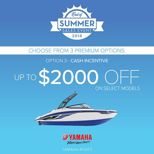 Yamaha Boats - End of Summer Sales Event - Option 3