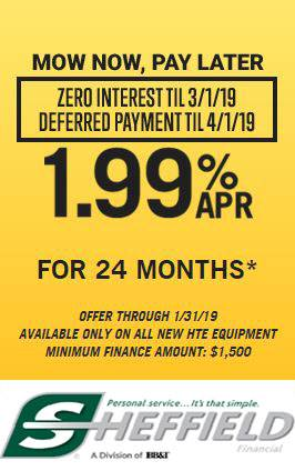 Hustler Turf Equipment - Mow Now, Pay Later - 1.99% for 24 Months