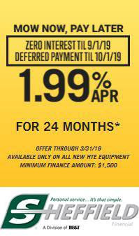 Hustler Turf Equipment - Mow Now, Pay Later - 1.99% APR for 24 Months