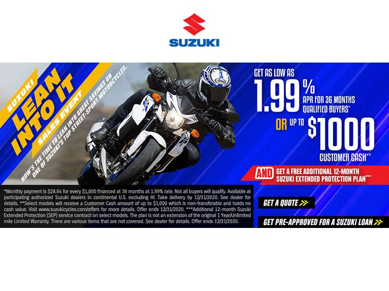 Suzuki Motor of America Inc. Suzuki - Lean Into It