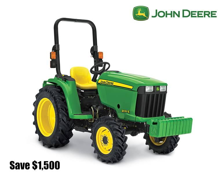John Deere - Save $1,500 on 3E Compact Tractors