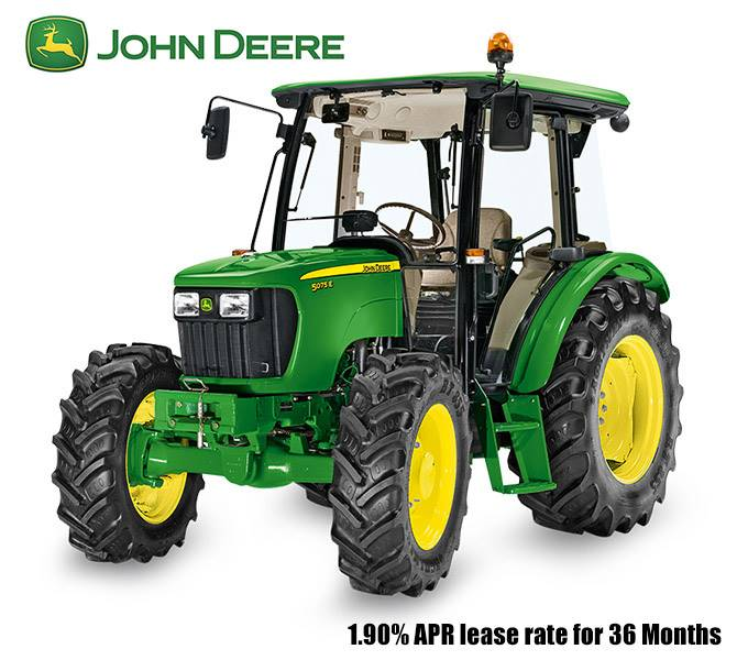 John Deere - 1.90% APR lease rate for 36 Months on 5E Series