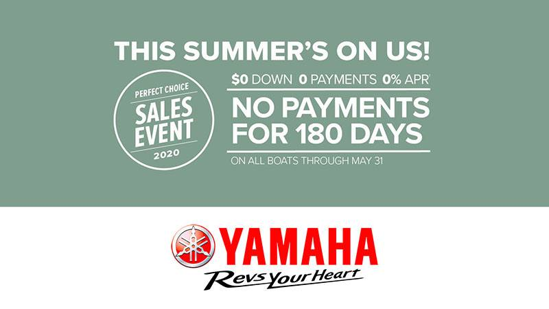 Yamaha Motor Corp., USA Yamaha Boats - Perfect Choice Sales Event