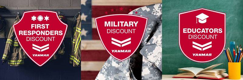 Yanmar - First Responders, Military, And Teachers Discount