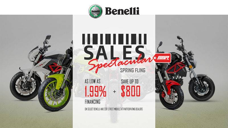 Benelli - SALES Spectacular Spring Fling - As Low As 1.99% Financing + Save Up To $800