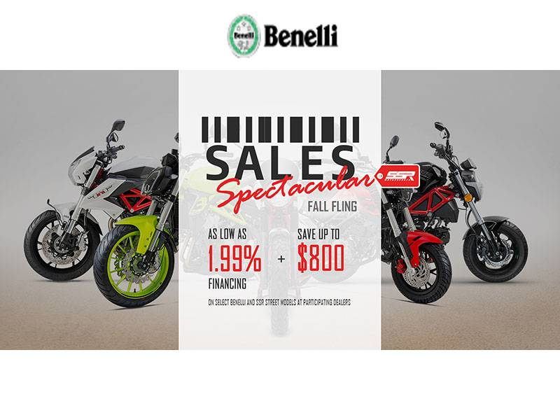 Benelli - SALES Spectacular Fall Fling - As Low As 1.99% Financing + Save Up To $800