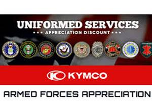 Kymco - Armed Forces Appreciation Sale