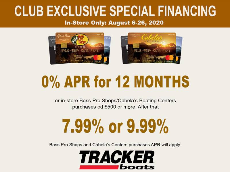 Tracker - Club Exclusive Special Financing