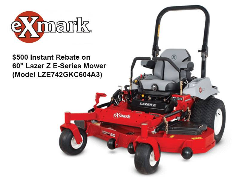 "Exmark - $500 Instant Rebate on 60"" Lazer Z E-Series Mower (Model LZE742GKC604A3)"