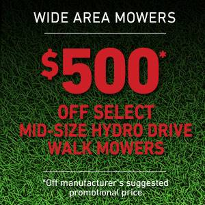 Toro - $500 USD Off Select Mid-Size Hydro Drive Mowers
