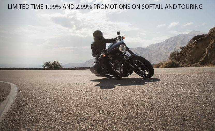 Harley-Davidson LIMITED TIME 1.99% AND 2.99% PROMOTIONS ON SOFTAIL AND TOURING