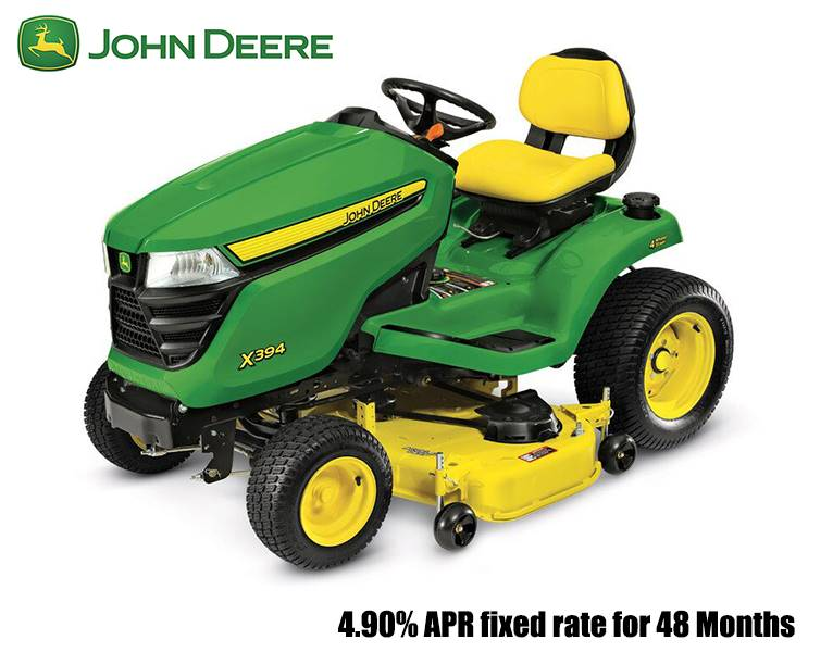 John Deere - 4.90% APR fixed rate for 48 Months on X300 Series