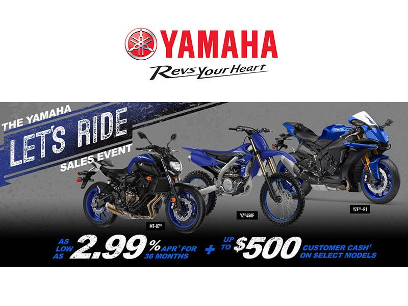 Yamaha Motor Corp., USA Yamaha - Let's Ride Sales Event - Motorcycles & Scooters