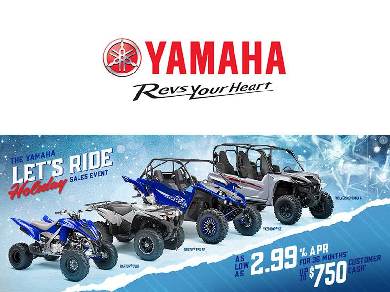 Yamaha Motor Corp., USA Yamaha - Let's Ride Holiday Sales Event - SxS