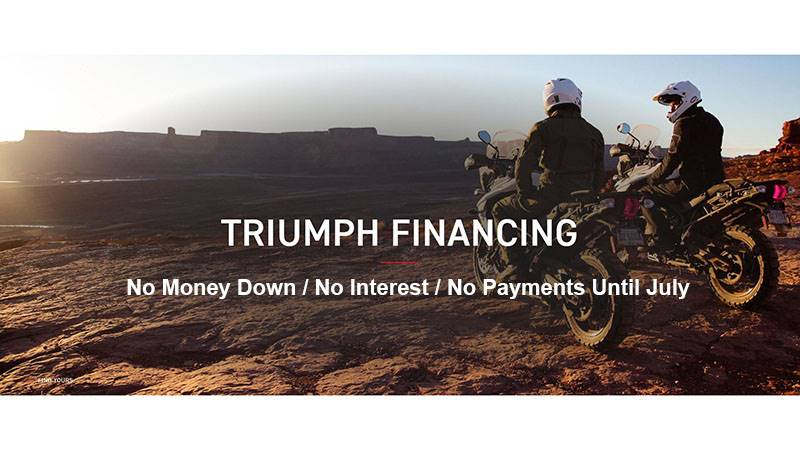 Triumph - No Money Down / No Interest / No Payments Until July