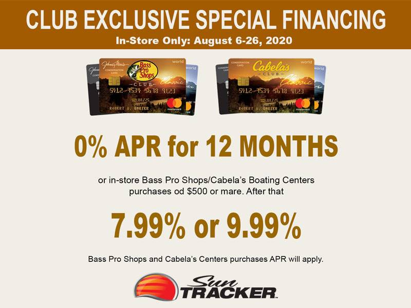 Sun Tracker - Club Exclusive Special Financing