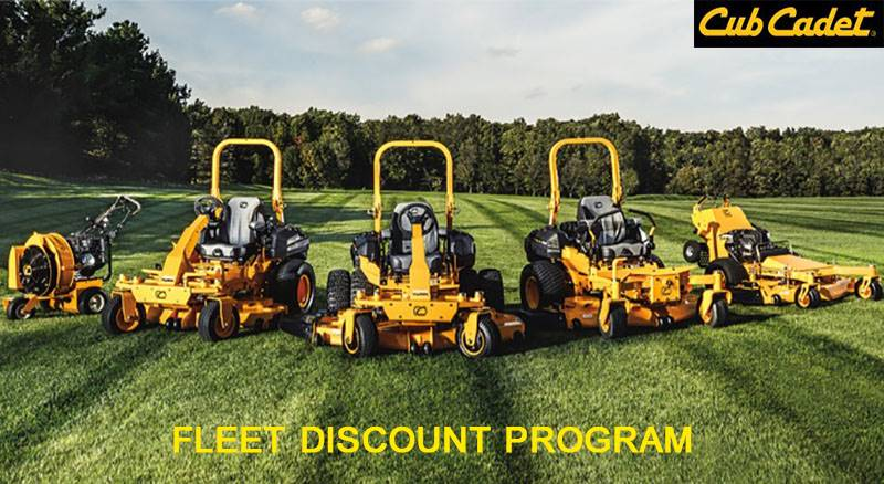 Cub Cadet - Special Offers - Fleet Discount Program
