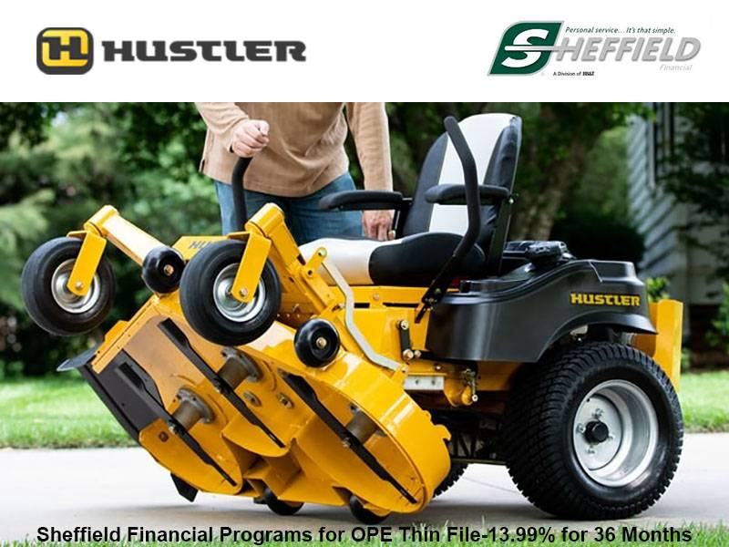 Hustler Turf Equipment - Sheffield Financial Programs for OPE Thin File-13.99% for 36 Months