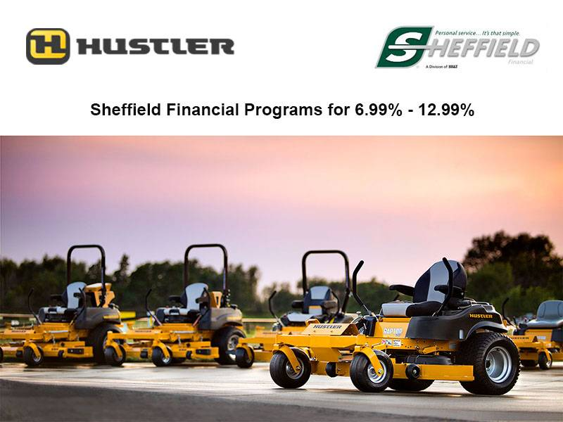 Hustler Turf Equipment - Sheffield Financial Programs for 6.99% - 12.99%