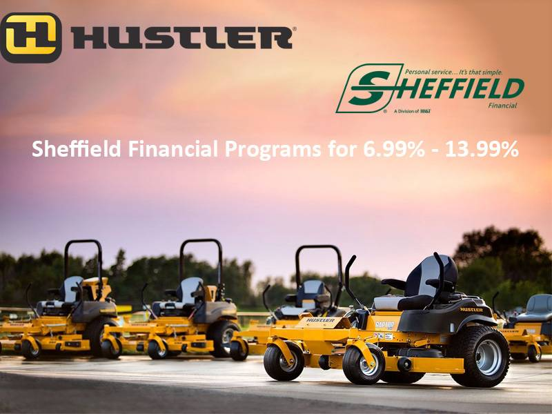 Hustler Turf Equipment - Sheffield Financial Programs for 6.99% - 13.99%