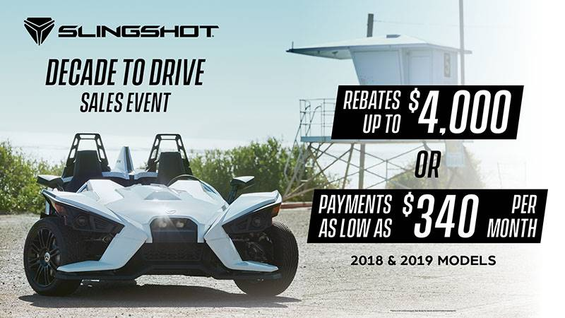 Slingshot - Decade to Drive Sales Event