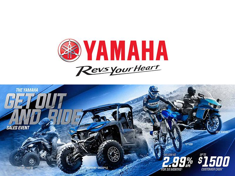 Yamaha Motor Corp., USA Yamaha - Get Out and Ride Sales Event - SxS