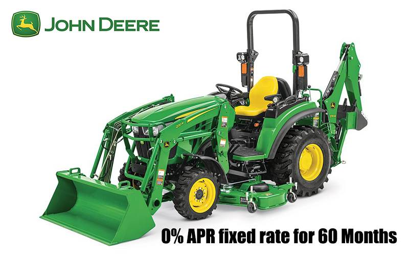 John Deere - 0% APR fixed rate for 60 Months on 2 Series Compact Tractors