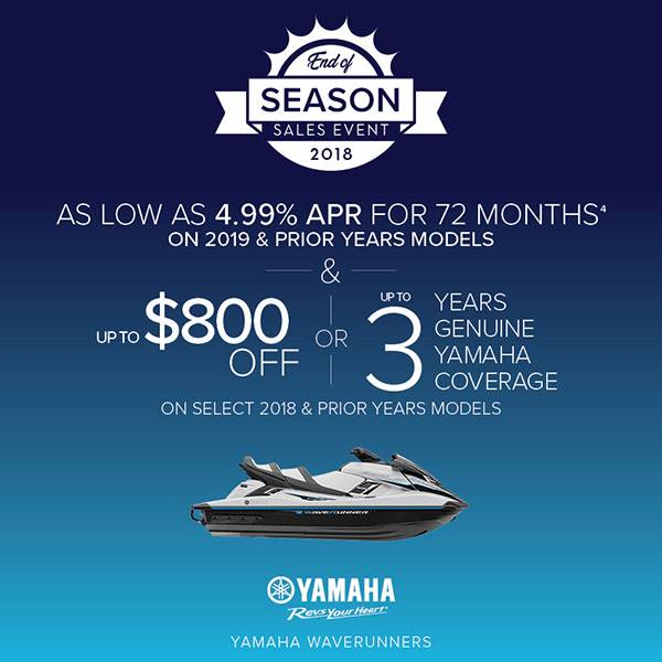 Yamaha Waverunners - AS LOW AS 4.99% APR