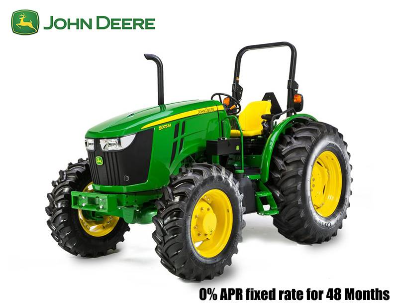 John Deere - 0% APR fixed rate for 48 Months on 5G, 5M, 5R, and 5 Series Specialty Tractors