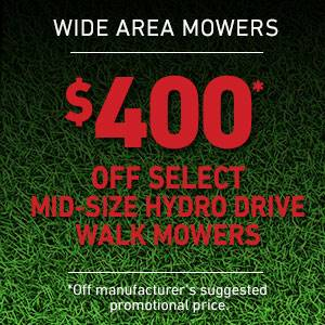Toro - $400 USD Off Select Mid-Size Hydro Drive Mowers