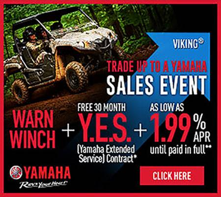 Yamaha - TRADE UP TO A YAMAHA SALES EVENT - Utility Side by Side