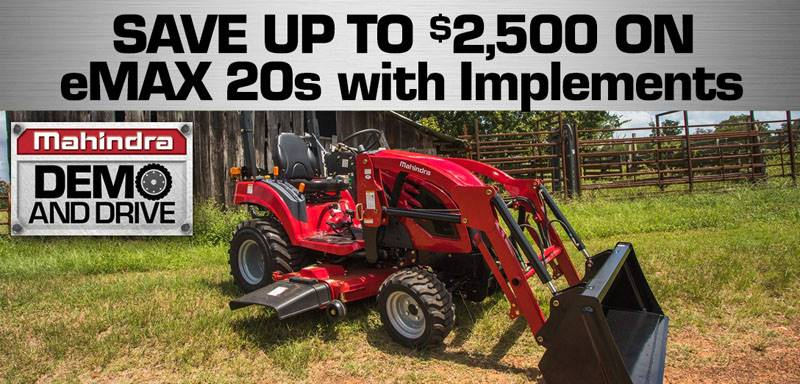 Mahindra - eMAX 20S SAVINGS!