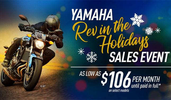 Yamaha - Rev in the Holidays Sales Event - Road Motorcycles