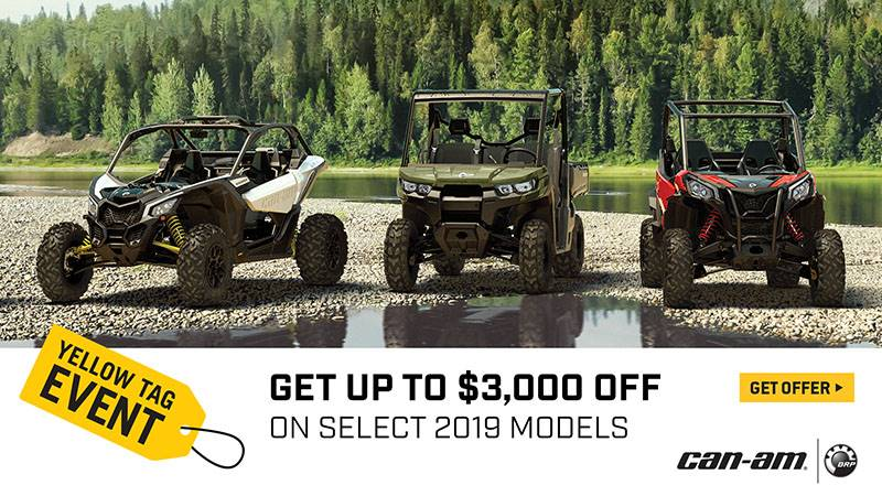 Can-Am - Yellow Tag Event - All Maverick X3, Maverick, Commander and Renegade Offers