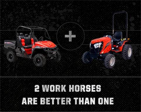 Mahindra - Two Work Horses Are Better Than One Rebate Program!