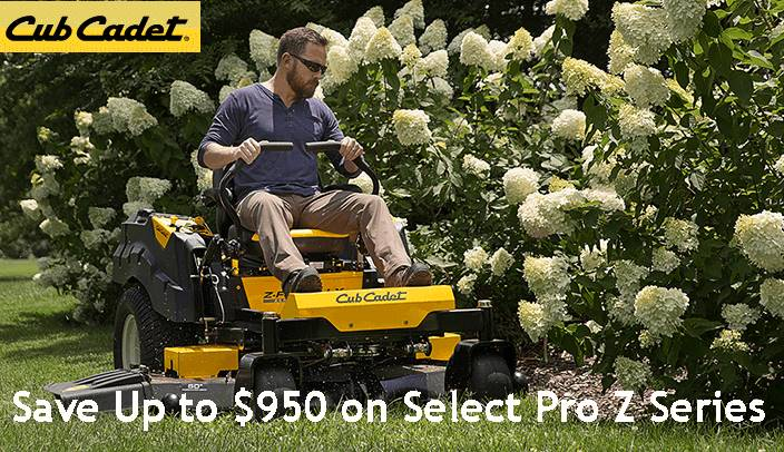 Cub Cadet - Save Up to $950 on Select Pro Z Series