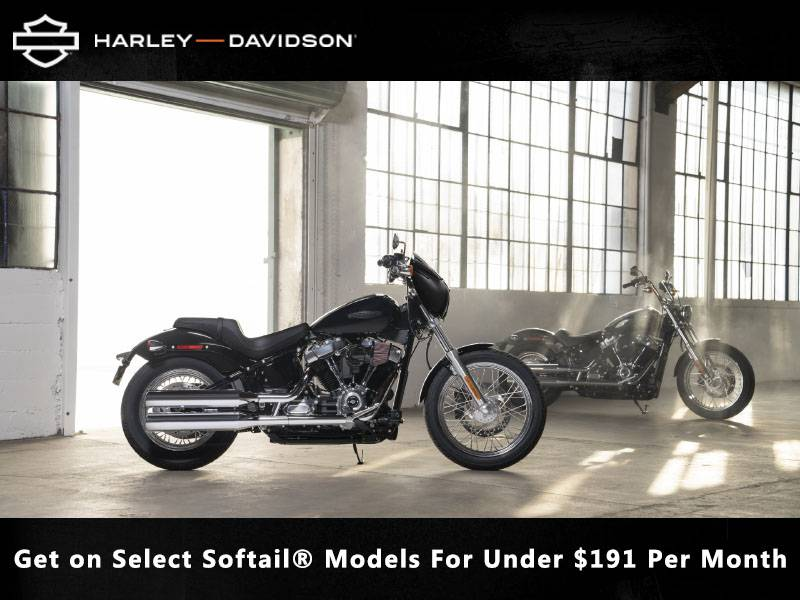 Harley-Davidson - Get on Select Softail® Models For Under $191 Per Month