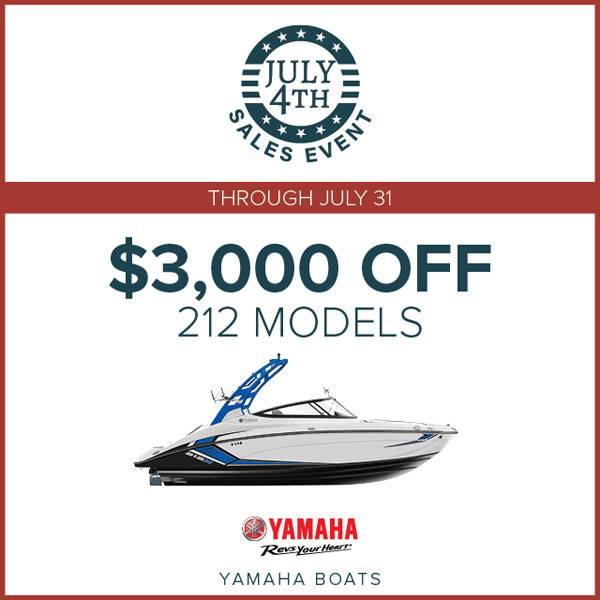 Yamaha Boats - $3,000 Off on 212 Models
